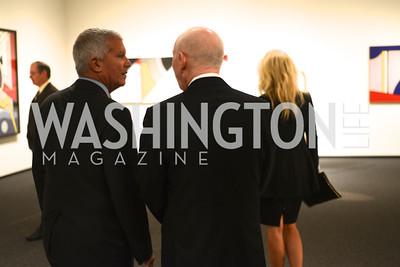 R-L Chrissie Erps, Aaron Fleischman, Larry Gagosian, Roy Lichtenstein Retrospective opens at the National Gallery of Art.  Photo by Ben Droz.