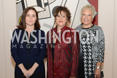 Barbara Bertozzi-Castelli, Cassandra Lozano, Martha Tedeschi, Roy Lichtenstein Retrospective opens at the National Gallery of Art.  Photo by Ben Droz.
