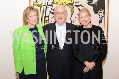 Agnus Gund, Joe Helman, Ursula Gelman,  Roy Lichtenstein Retrospective opens at the National Gallery of Art.  Photo by Ben Droz.