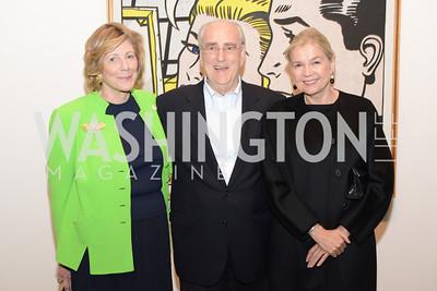 Agnus Gund, Joe Helman, Ursula Gelman,  Roy Lichtenstein Retrospective opens at the National Gallery of Art.  Photo by Ben Droz.