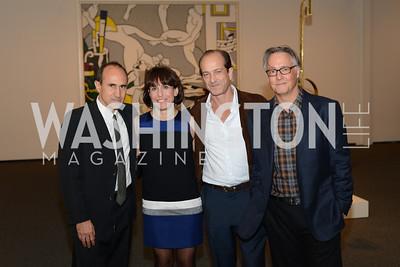 Harry Cooper, Joyce Pierpoline, Vincent Sancez, Mitchell Lichtenstein, Roy Lichtenstein Retrospective opens at the National Gallery of Art.  Photo by Ben Droz.