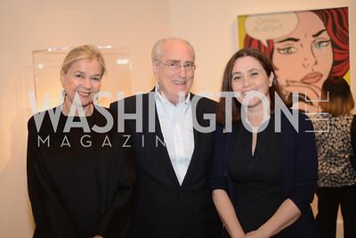 Ursula Helman, Joe Helman, Barbara Bertozzi-Castelli,  Roy Lichtenstein Retrospective opens at the National Gallery of Art.  Photo by Ben Droz.