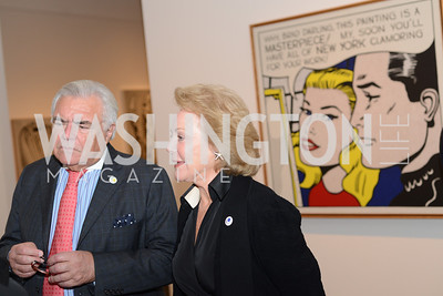 Roland Flamini, Diane Flamini, Roy Lichtenstein Retrospective opens at the National Gallery of Art.  Photo by Ben Droz.