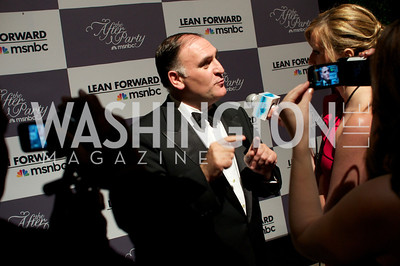 Chef Jose Andres at WHCD Afterparty , sponsored by MSNBC at the Italian Embassy.  Photo by Ben Droz