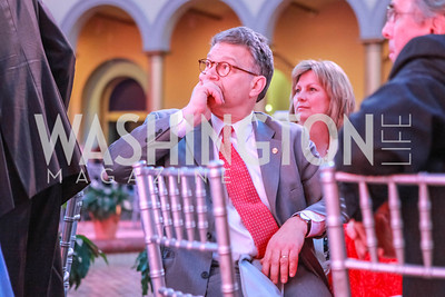 Al Franken. March of Dimes Gourmet Gala.  National Building Museum. April 25, 2012. Photo by Alfredo Flores