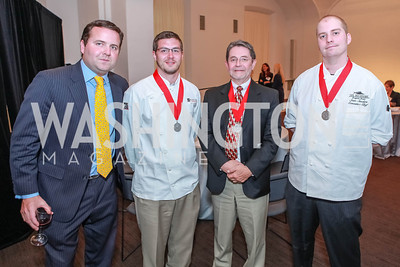 Lorenzo Davis, Joey Zucconi, Paul Zucconi, Sean Sanders. March of Dimes Gourmet Gala.  National Building Museum. April 25, 2012. Photo by Alfredo Flores