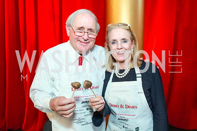 Carl Levin, Debbie Dengall. March of Dimes Gourmet Gala.  National Building Museum. April 25, 2012. Photo by Alfredo Flores