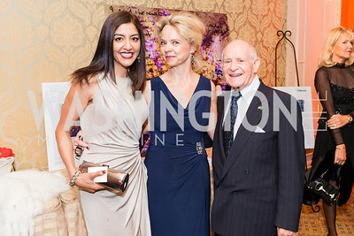 Humera Faheem Rehman, Karin Hoglund, Joseph Carlomagno. Mentor Foundation USA International Gala. Photo by Alfredo Flores. Four Seasons Hotel. September 20, 2012