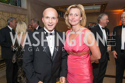Daniel Kulle, Eva Hafstrom. Mentor Foundation USA International Gala. Photo by Alfredo Flores. Four Seasons Hotel. September 20, 2012