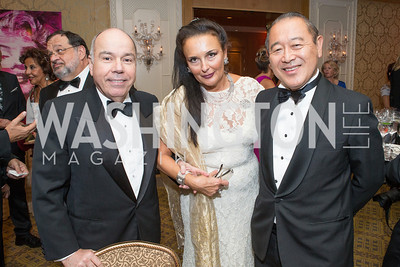 Ambassador of Brazil H.E. Vieira, Rhoda Septilici, Ambassador of Japan Ichiro Fujisaki. Mentor Foundation USA International Gala. Photo by Alfredo Flores. Four Seasons Hotel. September 20, 2012