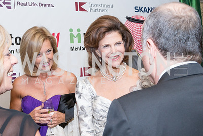 HM Queen Silvia of Sweden, Yvonne Thunell. Mentor Foundation USA International Gala. Photo by Alfredo Flores. Four Seasons Hotel. September 20, 2012