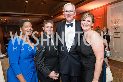 Jamila Sams, Jeff Mottern, Dan Nelson, Alex Mottern. Mentor Foundation USA International Gala. Photo by Alfredo Flores. Four Seasons Hotel. September 20, 2012