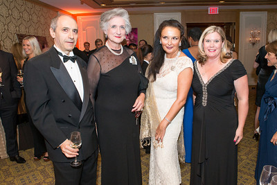 Alexander Mark, Countess Tolstoy, Rhoda Septilici, Linda White. Mentor Foundation USA International Gala. Photo by Alfredo Flores. Four Seasons Hotel. September 20, 2012