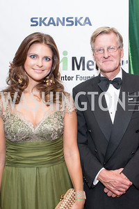 Her Royal Highness Princess Madeleine of Sweden, Swedish ambassador Jonas Hafstrom. Mentor Foundation USA International Gala. Photo by Alfredo Flores. Four Seasons Hotel. September 20, 2012