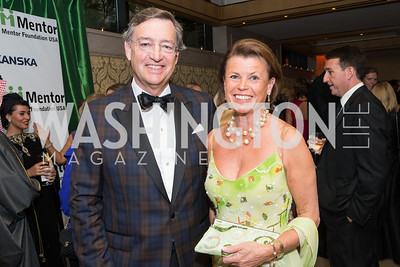 Dag Bjurstrom, Charlotte Bjurstrom. Mentor Foundation USA International Gala. Photo by Alfredo Flores. Four Seasons Hotel. September 20, 2012