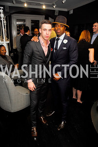 Adam Lampell,Tai Doughty,October 23,2012.Michael Andrews Bespoke Opening,Kyle Samperton