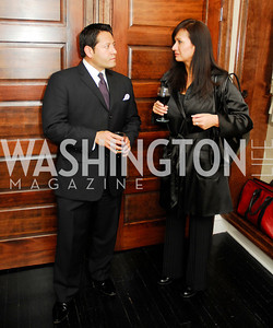 Ernie Arias,Maggie Perez,October 23,2012.Michael Andrews Bespoke Opening,Kyle Samperton