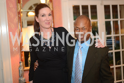 Danielle St. Germain-Gordon, Lionell Thomas, National Assembly of State Arts Agencies Dinner hosted at the home of the Chair of the DC Commission on the Arts and Humanities.