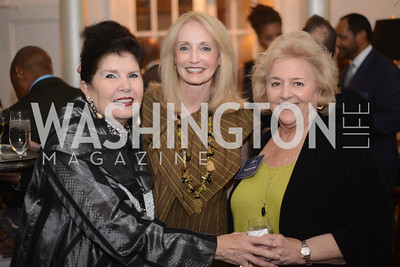 Judith Terra, Rhona Wolfe Friedman, MaryAnn Miller,  National Assembly of State Arts Agencies Dinner hosted at the home of the Chair of the DC Commission on the Arts and Humanities.