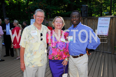 David Mitchell,Eugenia Nesterenko,John Aggreyy,June 26,2012,NVTC Hot Ticket Awards Poolside Party,Kyle Samperton