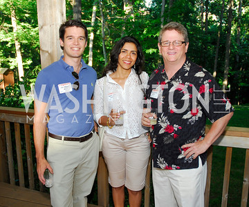 Ivan Vazquez,Andrea Costa ,Peter Cresse,June 26,2012,NVTC Hot Ticket Awards Poolside Party,Kyle Samperton