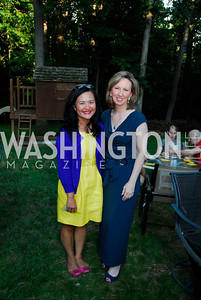 Serry Kim,Barbara Comstock,June 26,2012,NVTC Hot Ticket Awards Poolside Party,Kyle Samperton