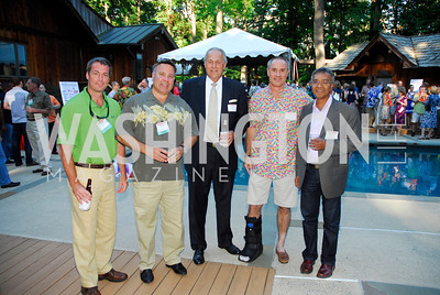 Darren Feeley,Chris Marentis,Joe BowerFrank Blackstone,Rashed  Hasan,June 26,2012,NVTC Hot Ticket Awards Poolside Party,Kyle Samperton