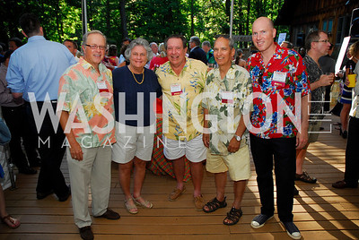 Bob Dinkel,Bobbie Kilberg,Robert Tilson,Art Hurtado,Dan Lawson,June 26,2012,NVTC Hot Ticket Awards Poolside Party,Kyle Samperton