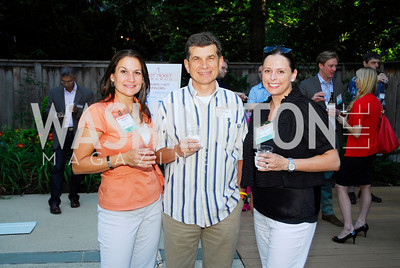 Elaine Hess,Jorge Forgees,Lauran Cacciatori,June 26,2012,NVTC Hot Ticket Awards Poolside Party,Kyle Samperton