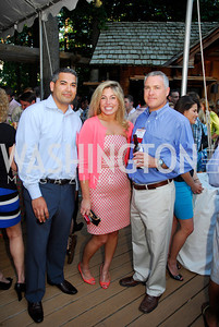 Usman Shakin,Katherine Ferguson,Sean Stone,June 26,2012,NVTC Hot Ticket Awards Poolside Party,Kyle Samperton