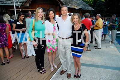 Jennifer Weiss,Tenley Carp,David Samech,Susan Groter,June 26,2012,NVTC Hot Ticket Awards Poolside Party,Kyle Samperton