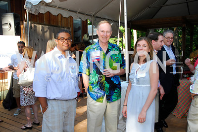 Yuctan Hodge,Dendy Young,Julia Osellame,June 26,2012,NVTC Hot Ticket Awards Poolside Party,Kyle Samperton