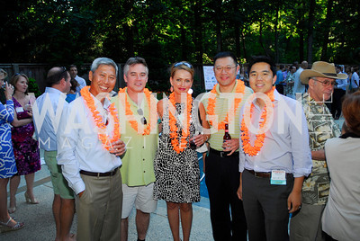 Ching -Ho  Fung,Bob Aldrich Tricia Morris,David Huang,Duke Chung, June 26,2012,NVTC Hot Ticket Awards Poolside Party,Kyle Samperton
