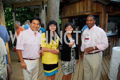 Jose Hernandez,Rosaline Kadasi,Irene Articola,Morris Clarke,June 26,2012,NVTC Hot Ticket Awards Poolside Party,Kyle Samperton
