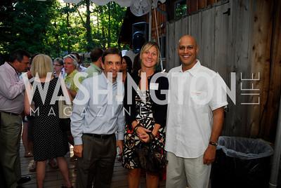 Chris Ryan,Kristen Cheman,Manik Rath,June 26,2012,NVTC Hot Ticket Awards Poolside Party,Kyle Samperton