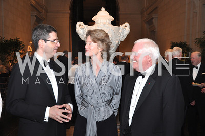 "Francois Delattre, French Ambassador, Mary Morton, Curator, Earl ""Rusty"" Powell II National Gallery of Art, January 25, 2012 19th Century French Art"