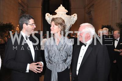 "Francois Delattre, French Ambassador, Mary Morton, Curator, Earl ""Rusty"" Powell II National Gallery of Art, January 25, 2012 19th Century French Art"