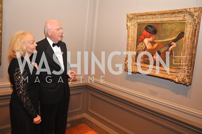 Mr. and Mrs. Senator Patrick Leahy D - VT P ; Auguste Renoir, Young Spanish Woman with Guitar National Gallery of Art, January 25, 2012 19th Century French Art