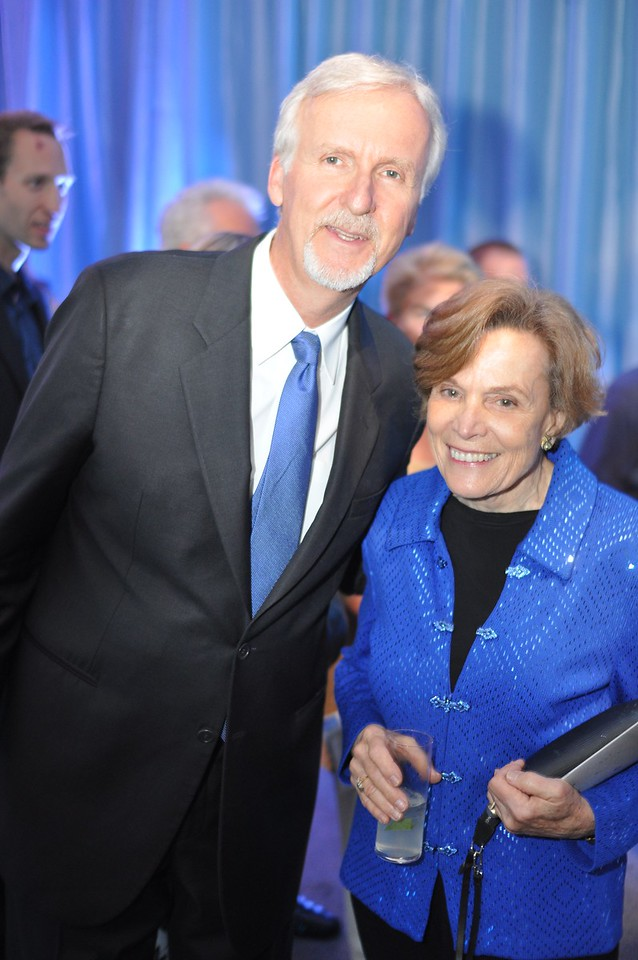 James Cameron and Sylvia Earle. National Geographic Society, Evening of Exploration. Thursday June 14, 2012. Presented by Rolex, Photo by Ben Droz.