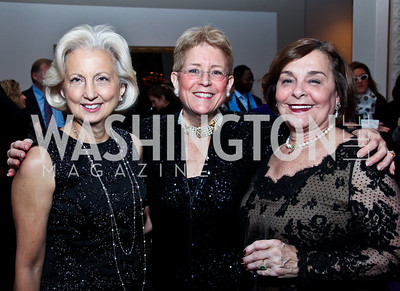 Nancy Stevenson, Nancy Zirkin, Jackie Knepshield. Photo by Tony Powell. NMWA Fall Benefit. November 4, 2012
