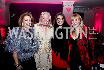 Nancy Duber, Martha Dippell, Madelyn and Lizey Korengold. Photo by Tony Powell. NMWA Fall Benefit. November 4, 2012