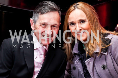 Rep. Dennis Kucinich, Melissa Etheridge. Photo by Tony Powell. NMWA Fall Benefit. November 4, 2012