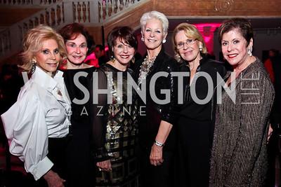 Wilma Bernstein, Alma Gildenhorn, Marlene Malek, Regina Porten, Marcia Carlucci, Liz Dubin. Photo by Tony Powell. NMWA Fall Benefit. November 4, 2012