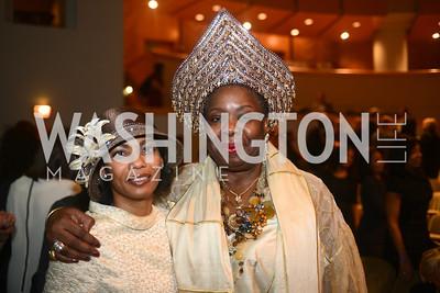 Estelle Heussen, Dr. Gloria Herndon,  National Women's History Museum, De Pizan Gala.  Dr. Maya Angelou, the Honorable Elizabeth Dole, Photographer Annie Leibovitz honored. Photo by Ben Droz.