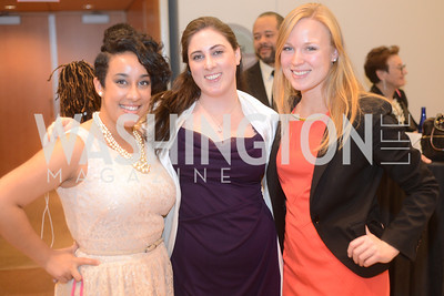 Alyssa Beauchamp, Marjahn Golban, Caroline Oppel,  National Women's History Museum, De Pizan Gala.  Dr. Maya Angelou, the Honorable Elizabeth Dole, Photographer Annie Leibovitz honored. Photo by Ben Droz.