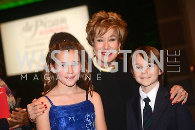 Elizabeth Dole and Grandchildren, National Women's History Museum, De Pizan Gala.  Dr. Maya Angelou, the Honorable Elizabeth Dole, Photographer Annie Leibovitz honored. Photo by Ben Droz.