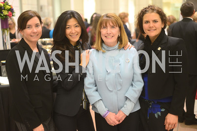 Kristina Murphy, Fuzuki Mizuno, Patty Frissoca, Melissa Pagano,  National Women's History Museum, De Pizan Gala.  Dr. Maya Angelou, the Honorable Elizabeth Dole, Photographer Annie Leibovitz honored. Photo by Ben Droz.