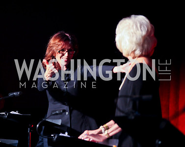 Marilu Henner, Diane Rehm. Photo by Tony Powell. Surviving Grace. Phillips Collection. October 10, 2012