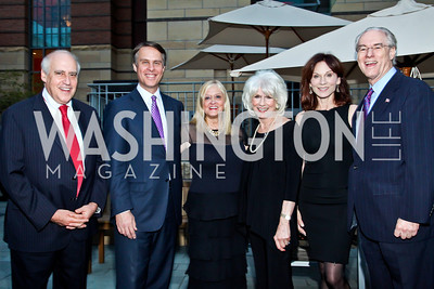 Dan Glickman, Terry Moran, Trish Vradenburg, Diane Rehm, Marilu Henner, George Vradenburg. Photo by Tony Powell. Surviving Grace. Phillips Collection. October 10, 2012