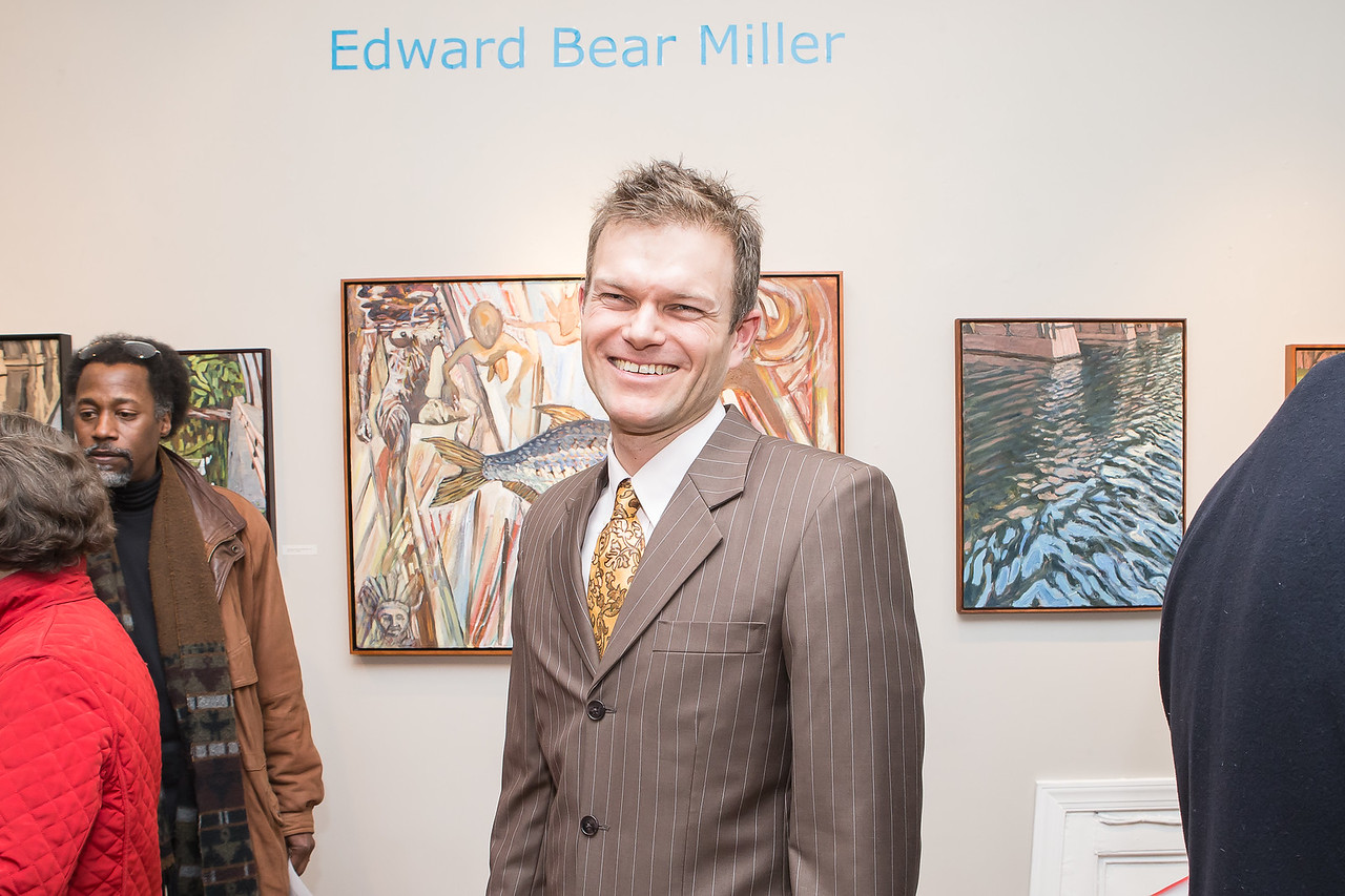 Ed Miller. Photo by Alfredo Flores. Opening Reception for Edward Bear Miller Exhibit. Foundry Gala. January 4, 2013.